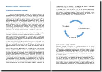 Management stratégique : le diagnostic stratégique
