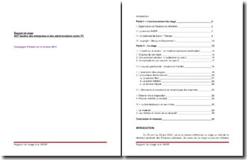 Rapport de stage au sein de la direction générale des Finances publiques : la Campagne d'impôt sur le revenu 2012