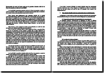 Commentaire d'arrêt de la Chambre civile de la Cour de cassation du 3 avril 2002 : la formation d'un contrat, particulièrement concernant la violence