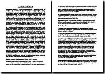 La juridiction constitutionnelle (Suisse)