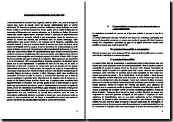 Commentaire de l'arrêt Cayzelle du 10 juillet 1996 concernant l'irrecevabilité du recours