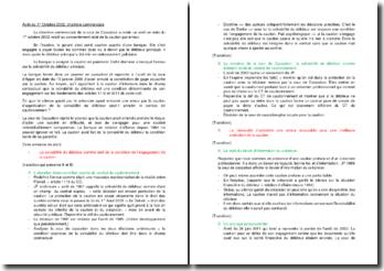 Commentaire d'arrêt de la Chambre commerciale de la Cour de cassation du 1er octobre 2002 : le consentement vicié de la caution par erreur