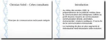 Principes de communication multicanale intégrée