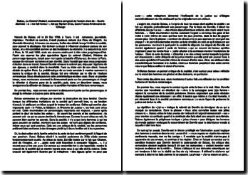Balzac, Le Colonel Chabert, commentaire composé de l'extrait allant de « Quelle destinée » à « me fait horreur »