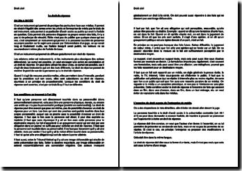 Le droit de réponse en droit civil suisse
