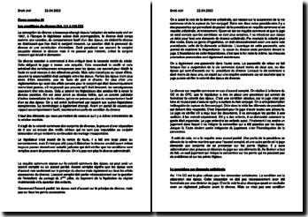 Les conditions et la procédure sur demande unilatéraledu divorce en Suisse