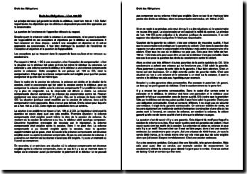 L'art. 169 CO en Droit des Obligations suisse