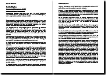 Les responsabilités aggravées en Suisse : la LCR (loi sur la circulation routière)
