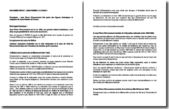 Un homme d'Etat : Jean-Pierre Chevènement