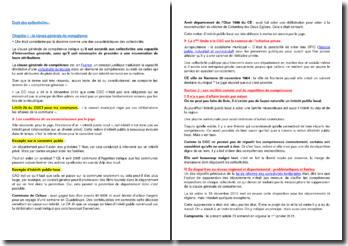 Droit des collectivités : la clause générale de compétence, les compétences attribuées précisément par le législateur