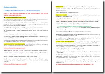 Droit des collectivités : la libre administration des Collectivités territoriales