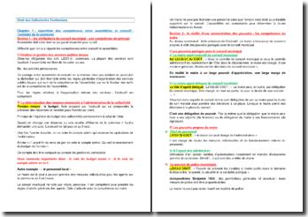 Droit des Collectivités Territoriales : la répartition des compétences entre assemblées et exécutif : l'exemple de la commune