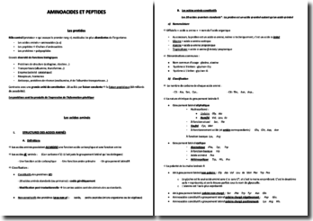 Aminoacides et peptides