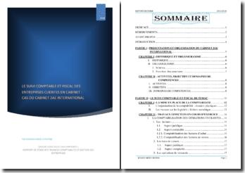 Le suivi comptable et fiscal des entreprises clientes en cabinet : cas du cabinet 2AE International (Côte d'Ivoire)