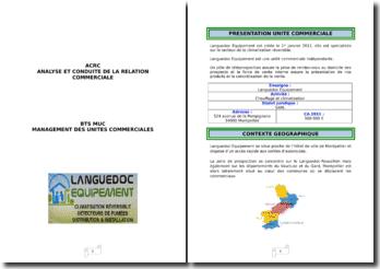 Analyse et conduite de la relation commerciale de l'entreprise Languedoc Equipement