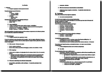 Les rôles biologiques et la classification des glucides