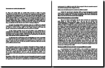 Commentaire d'arrêt de la Cour de cassation du 20 octobre 2010 : le caractère inexcusable de l'erreur de droit