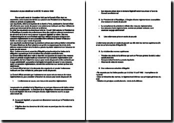Introduction et plan détaillé de l'arrêt CE 19 octobre 1962