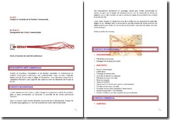 Présentation de la société SEMAP (Vente et location de matériel audiovisuel)