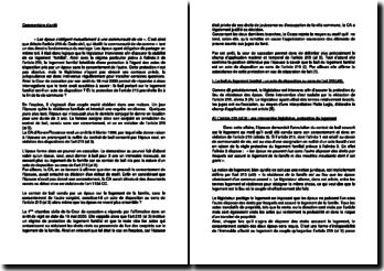 Commentaire d'arrêt de la Première Chambre civile de la Cour de cassation du 16 mai 2000 : le bail du logement familial