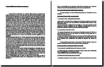 Le Conseil d'Etat et les directives européennes