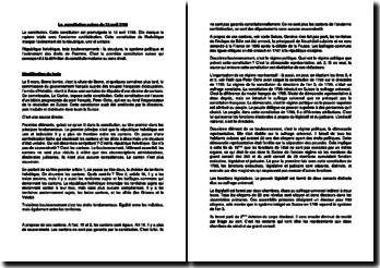 La constitution suisse du 12 avril 1798