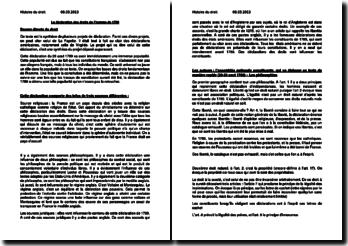 La déclaration des droits de l'homme de 1789