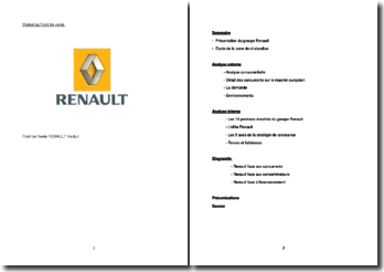 Analyse marketing de la concession Renault de Verdun