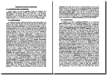 Organisation de la justice constitutionnelle