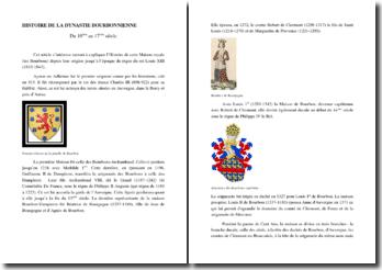 Histoire de la dynastie bourbonnienne du 10e au 17e siècle