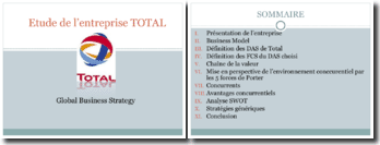 Etude du business strategy de l'entreprise TOTAL
