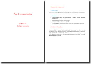 Analyse de la stratégie de communication de l'entreprise Kogitus