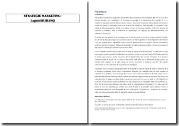 Analyse de la stratégie marketing du logiciel Bublinq