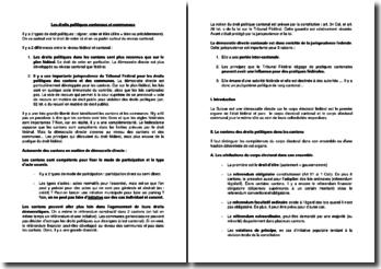 Les droits politiques cantonaux et communaux (Suisse)