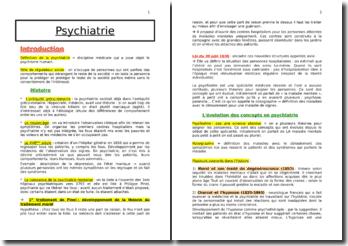 La psychiatrie : les grandes maladies et la contrainte aux soins en psychiatrie