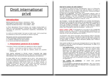 Le Droit International Privé : la mise en oeuvre des principes et les règles françaises de rattachement