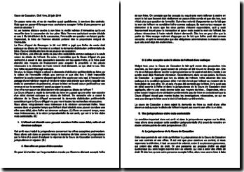 Commentaire d'arrêt de la Première chambre civile de la Cour de cassation du 25 juin 2014 : la caducité de l'offre