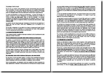 Etude de cas en droit du travail sur la qualification des fautes et le régime de la sanction