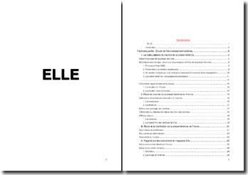 Etude marketing en presse féminine : le magazine 'Elle