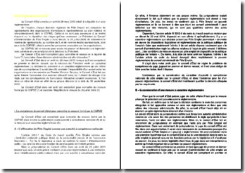 Commentaire d'arrêt du Conseil d'État du 28 mars 2012 : la légalité d'un acte règlementaire + des fiches d'arrêts