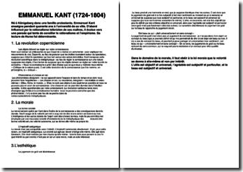 Une biographie d'Emmanuel Kant (1724-1804)