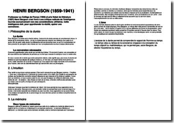 Une biographie d'Henri Bergson (1859-1941)