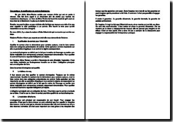 Etude de cas sur la qualification du contrat d'entreprise