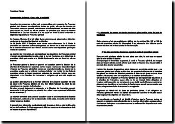 Commentaire d'arrêt de la Chambre criminelle de la Cour de cassation du 9 mai 2001 : le délai concernant le dépôt des réquisitions du Procureur général