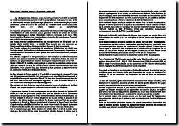 Commentaire d'arrêt de la Chambre criminelle de la Cour de cassation du 7 octobre 2009 : le blanchiment