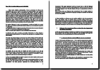 Commentaire d'arrêt de la Deuxième Chambre civile de la Cour de cassation du 5 octobre 2006 : le vice de consentement