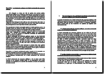 Les fondements juridiques de la liberté contractuelle des personnes publiques