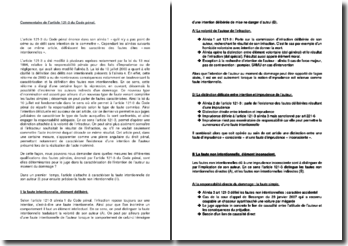 Commentaire de l'article 121-3 du Code pénal : la faute intentionnelle et la faute non-intentionnelle de son auteur