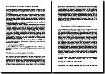 Commentaire d'arrêt du Conseil d'Etat du 3 juillet 1996 : arrêt Koné