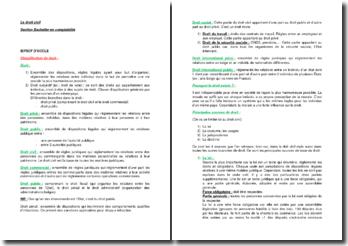 La classification du droit, le droit civil, les personnes, le patrimoine, les obligations, les contrats, le contrat d'échange